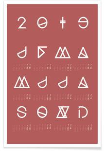 2019 Geometrical Calendar Marsala