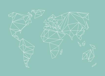 Geometrical World Green