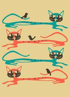 Birds on a cat