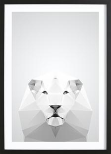 Geo White Lion