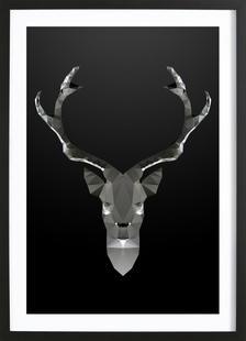 Geo Black Deer