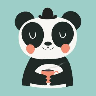 Panda Loves Coffee