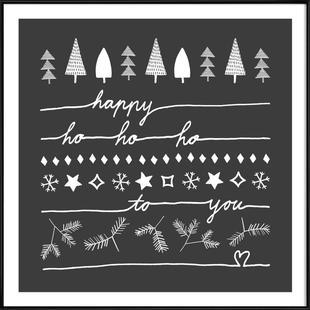 Happy Ho Ho Ho to You - Grey