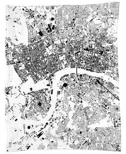 London Map Schwarzplan