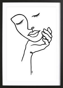 Girl Holding Her Face