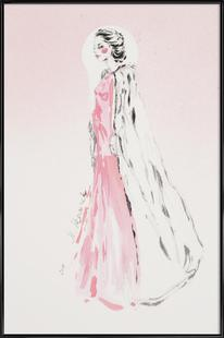 Pink fashion illustration