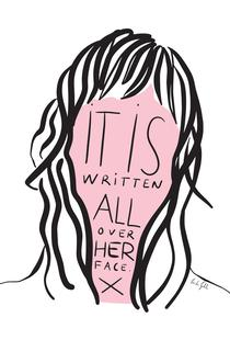 Writing on Her Face