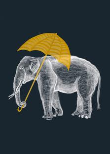 Elephant with Umbrella 2