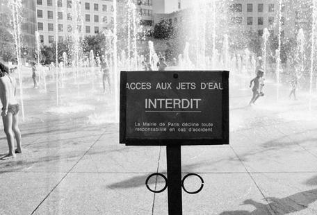 Jet interdit black & white
