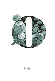 Flower Alphabet - O