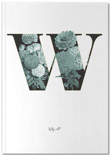 Flower Alphabet - W