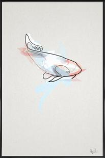 One Line Koi Fish