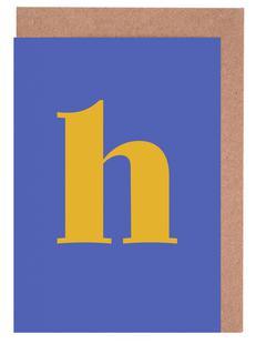 Blue Letter H