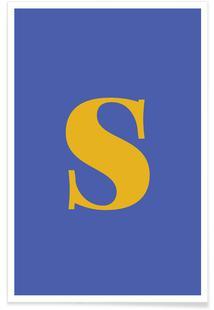 Blue Letter S