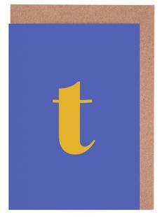 Blue Letter T