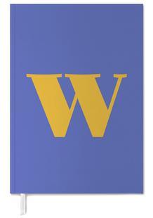 Blue Letter W