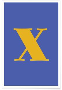 Blue Letter X