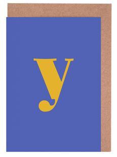 Blue Letter Y