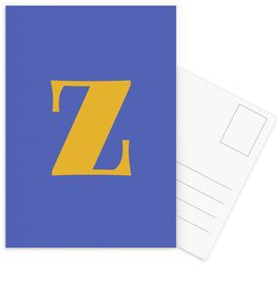 Blue Letter Z