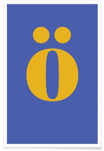Blue Letter ö
