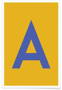 Yellow Letter A