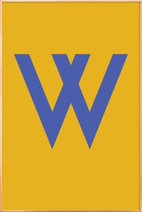Yellow Letter W