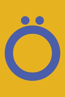 Yellow Letter Ö