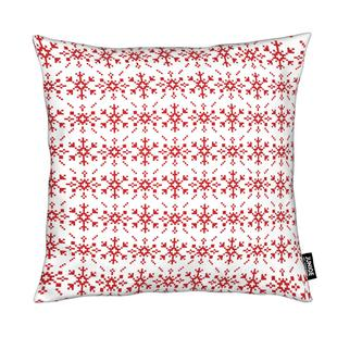 Snowflakes White-Red
