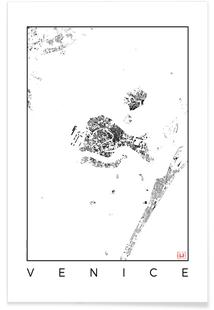Venice Map Schwarzplan