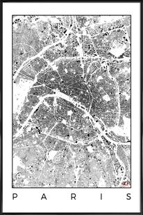 Paris Map Schwarzplan