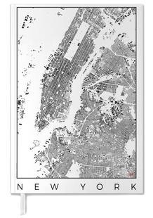 New York Map Schwarzplan