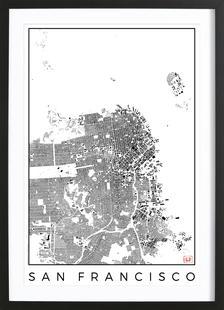 San Fransico Map Schwarzplan
