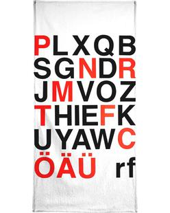 Alphabet Neon Red And Black