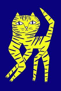 Cat Round Yellow