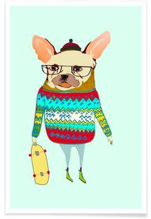 French Bulldog Skater