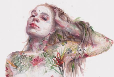 Leaves on Skin