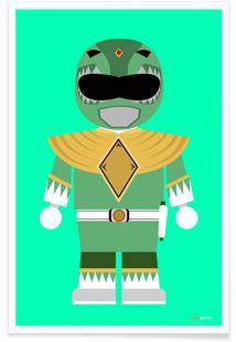 Power Ranger Toy Green
