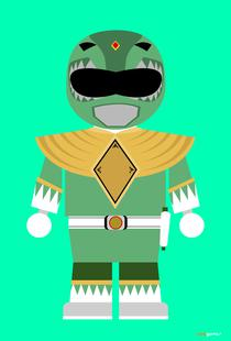 Power Ranger Toy Green