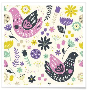 Scandinavian Birds Pattern