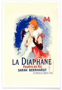 Poster for la Poudre de Riz la Diaphane, Face-powder, Sarah Bernhardt - Jules Chéret