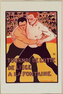 Belgium poster for Tournoi de Lutte, de Liege a la Fontaine - Armand Rassenfosse