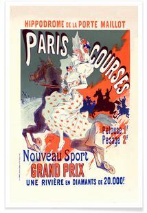 Poster for l'Hippodrome de la Porte-Maillot, Paris-Courses -Jules Chéret
