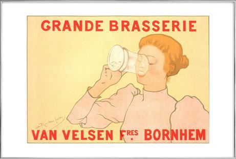 Belgian poster, Grande Brasserie Van Velsen -Armand Rassenfosse