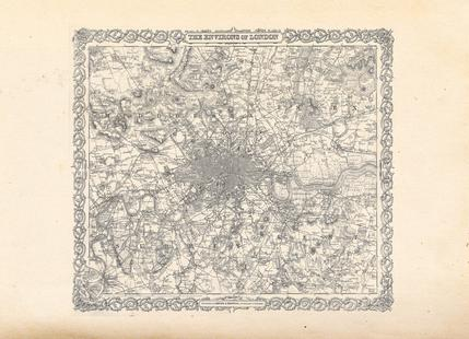 London, Colton Map Or Plan Of London England,