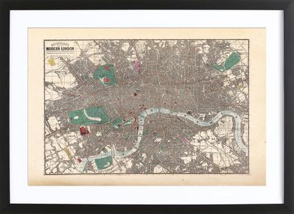 Pocket Map Of London, England