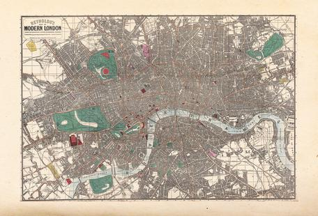 Pocket Map Of London, England
