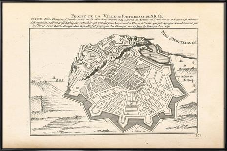 Nice, Illustration France, 1726