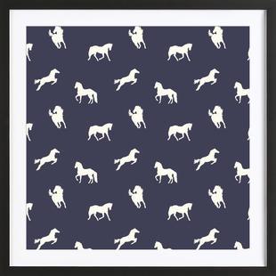 Horse print (Navy slate)