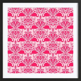 Flamingo Damask - pink