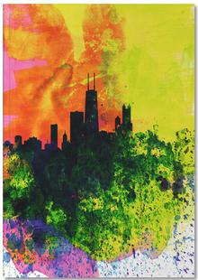 Chicago Watercolor Skyline